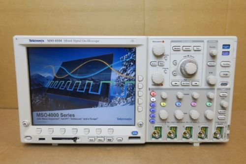 Tektronix MSO4104 Analog Digital Signal 16 Channel Oscilloscope DPO4EMBD DPO4USB